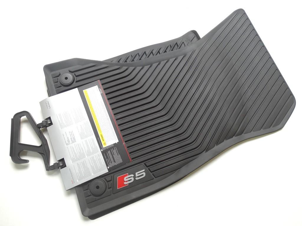 8W7061221A 041 Original Audi S5 Gummimatten Gummifußmatten vorne schwarz