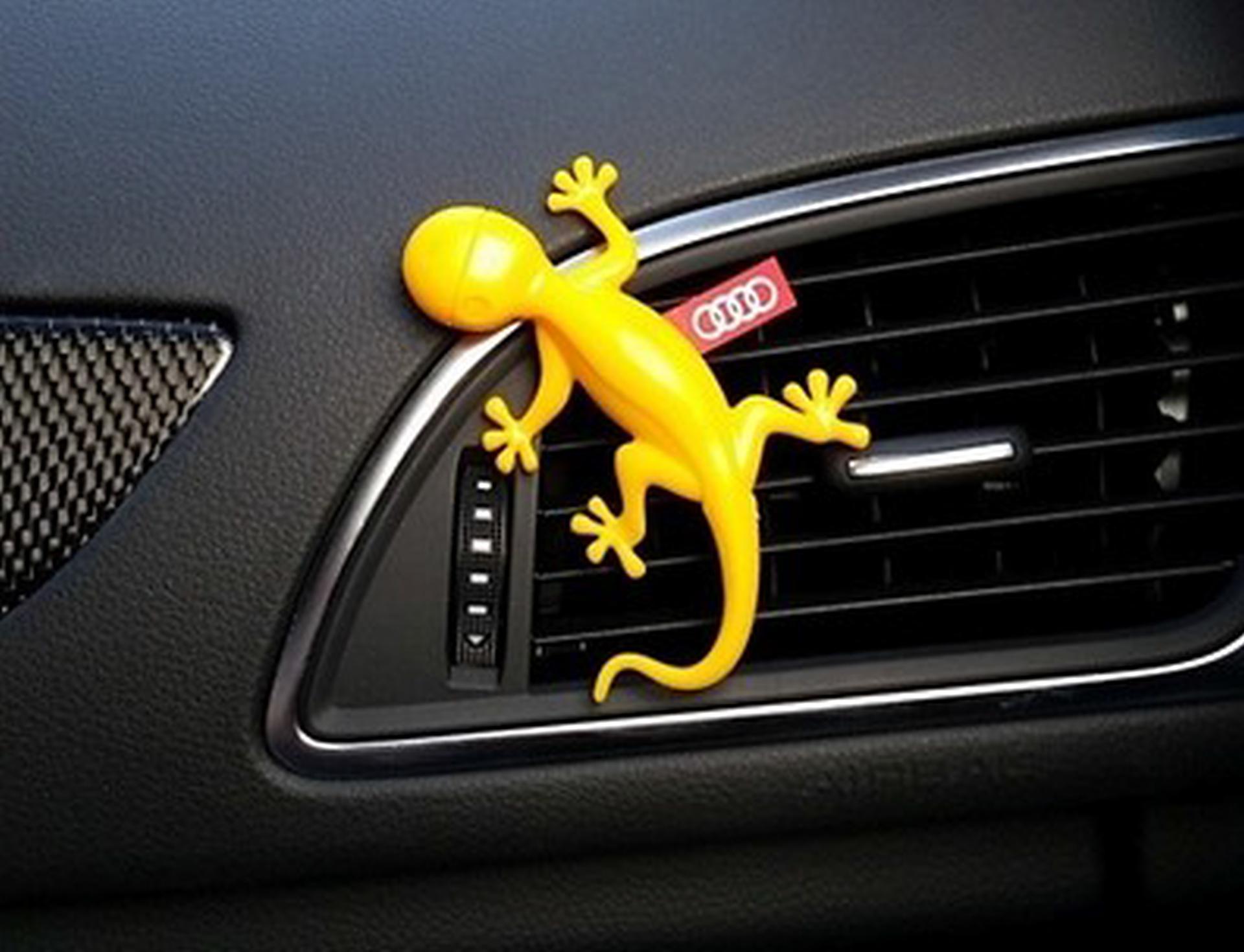 Original Audi Gecko Duftspender Duftgecko gelb für Luftausströmer