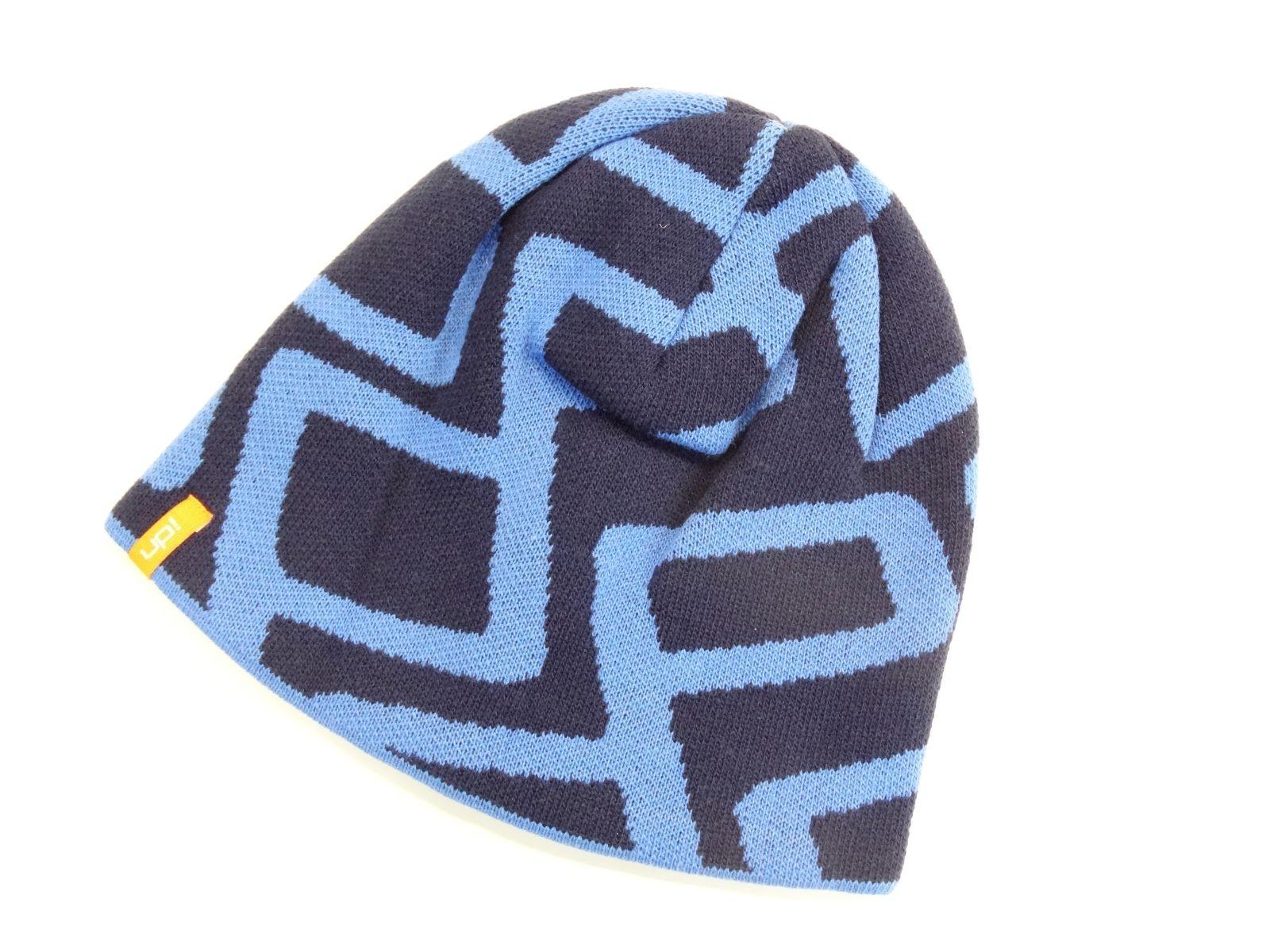 VW Up! Mütze Strick Beanie blau