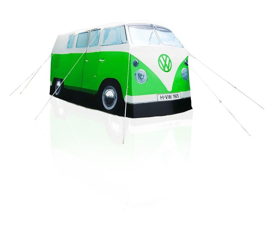 Original VW Bulli Multivan T1 Zelt Campingzelt 4 Personen grün / weiß
