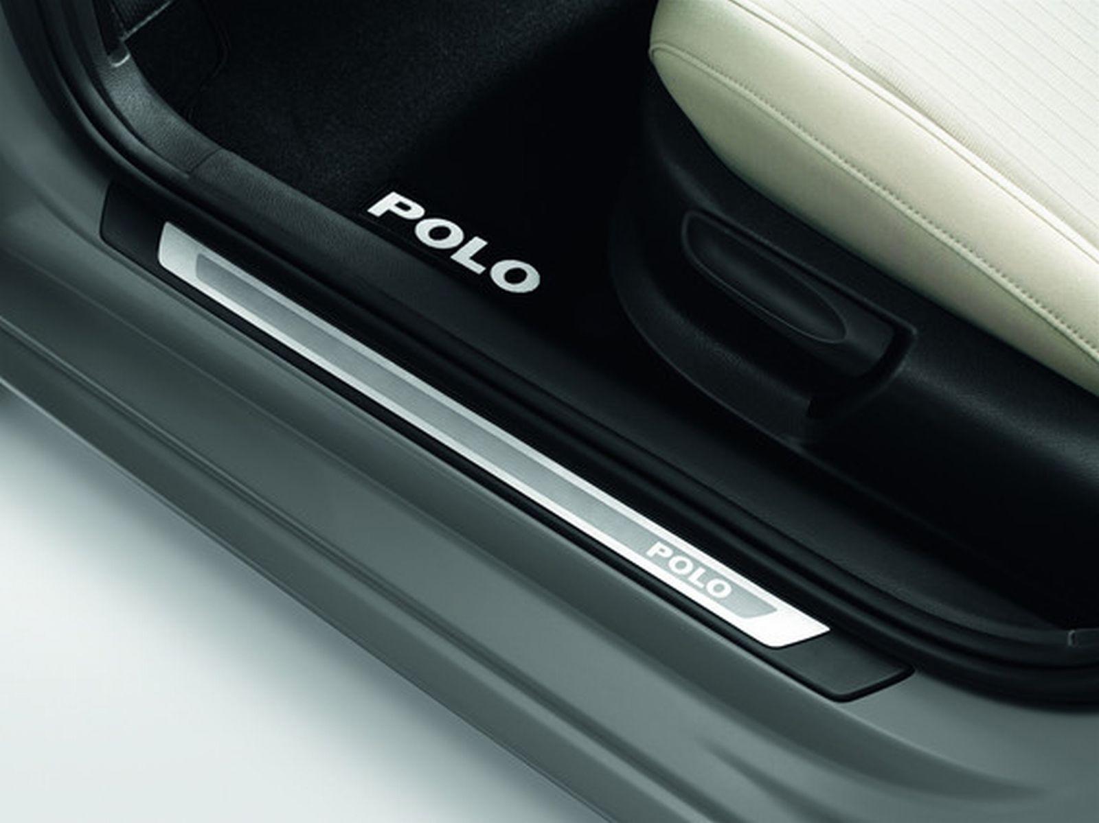 Original VW Polo 6R 4-Türer Einstiegsleisten Satz Edelstahl
