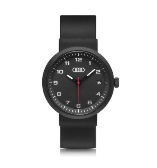 audi uhr chronograph armbanduhr schwarz matt quarzwerk. Black Bedroom Furniture Sets. Home Design Ideas