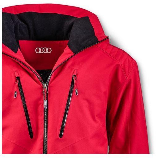 Audi Winterjacke Skijacke Jacke Herren rot