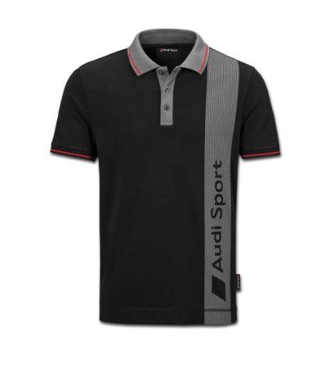 Audi Sport Poloshirt Herren schwarz / grau