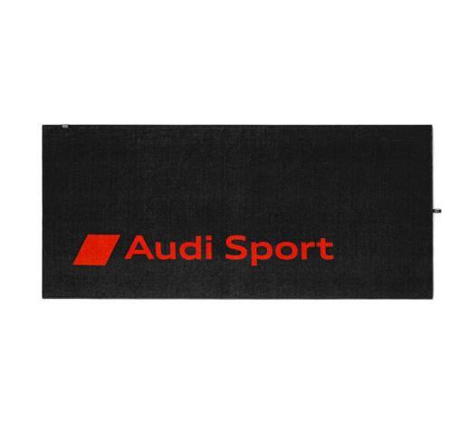 Audi Sport Strandlaken Handtuch Badetuch Badehandtuch dunkelgrau/rot, 80x180cm