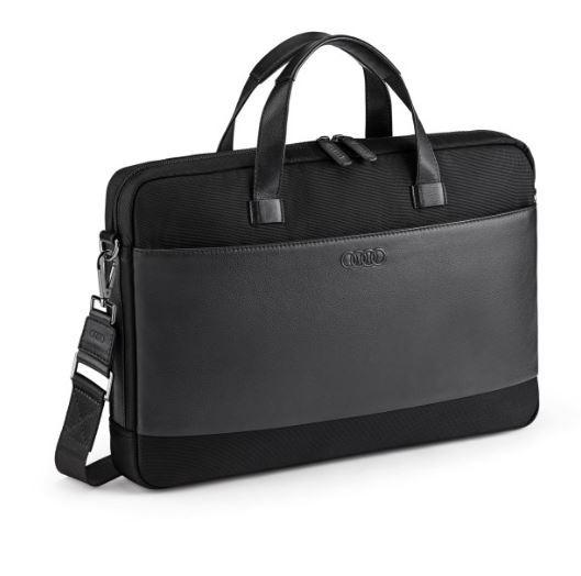 Audi Businesstasche Laptoptasche Aktentasche Notebooktasche schwarz