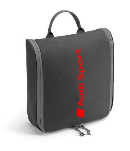 Audi Sport Wash Center Kulturbeutel Tasche zum aufhängen dunkelgrau 3151901600