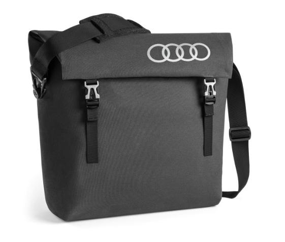 Audi Messenger Bag Schultertasche Tasche Umhängetasche dunkelgrau 3152000300