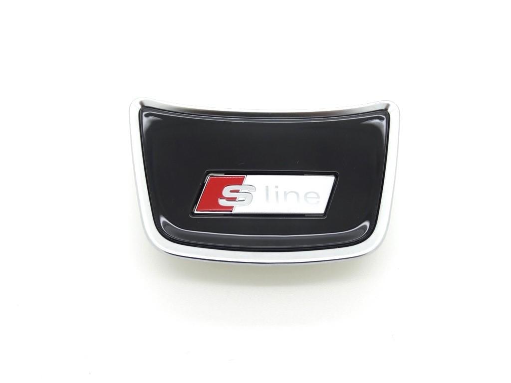 original audi a1 a6 a7 s line abdeckung emblem logo. Black Bedroom Furniture Sets. Home Design Ideas