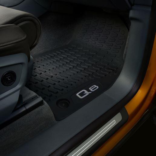 Original Audi Q8 4M Gummifußmatten Gummimatten Fußmatten vorne