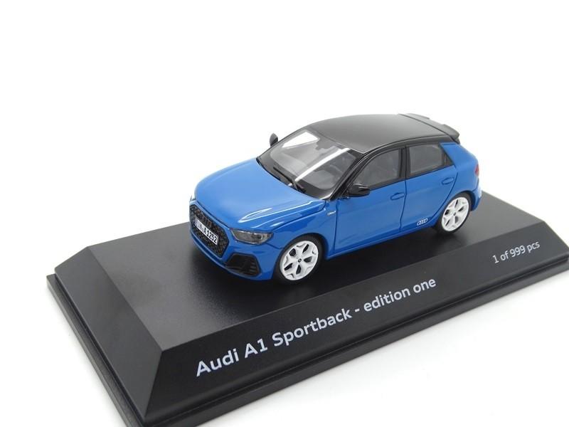 Audi A1 GB Sportback 1:43 Modellauto Miniatur Turboblau edition one