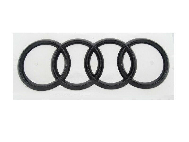 Original Audi Q5 FY Ringe Emblem Schriftzug Logo Heckklappe schwarz glänzend