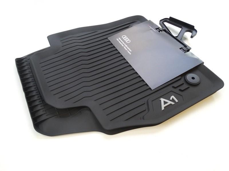Original Audi A1 GB Gummifußmatten Gummimatten vorne schwarz