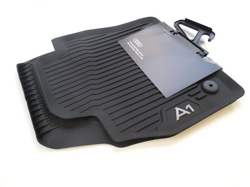 Original Audi A1 GB Gummifußmatten Gummimatten vorne + hinten schwarz