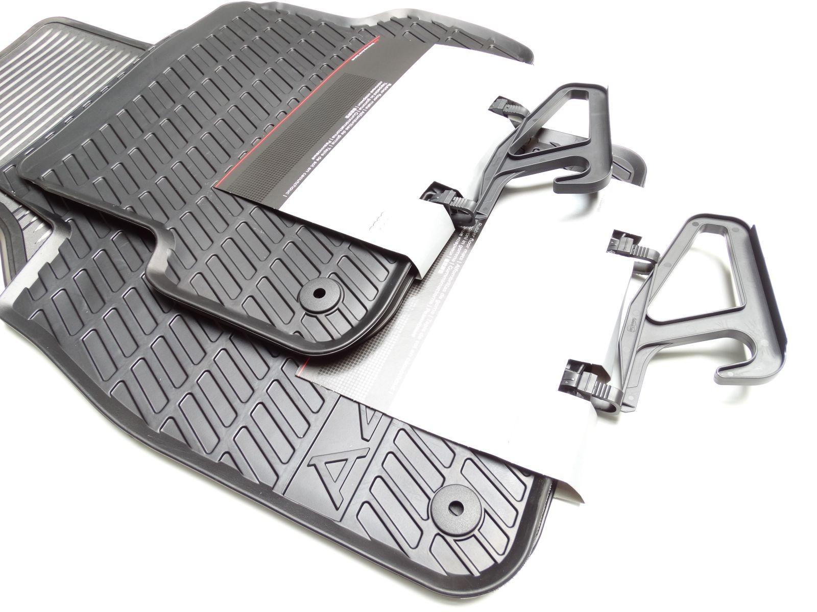 Set hinten Original Audi A4 8E Gummimatten Gummifussmatten Fußmatten vorn