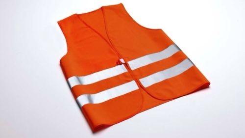 Original Audi Signalweste Warnweste Orange
