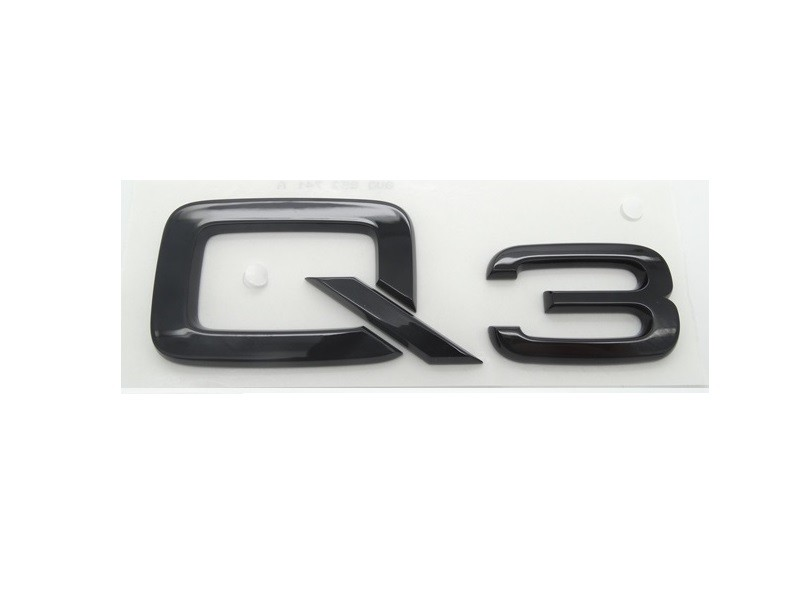 Original Audi Q3 Schriftzug Emblem Logo Plakette Aufkleber schwarz selbstklebend