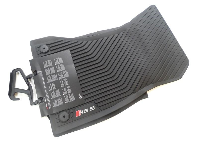 Original Audi RS5 Gummimatten Gummifußmatten Fußmatten vorn schwarz
