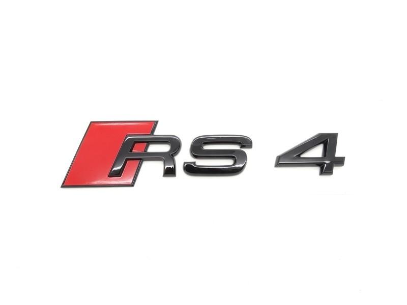 Original Audi RS4 Schriftzug Emblem Logo schwarz selbstklebend - 8W9853740 T94