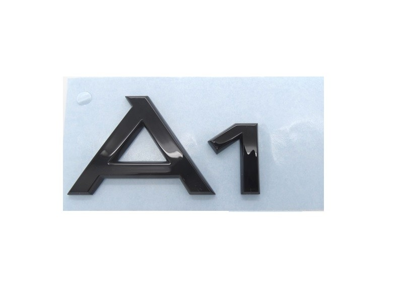 original audi a1 schriftzug emblem logo plakette aufkleber. Black Bedroom Furniture Sets. Home Design Ideas