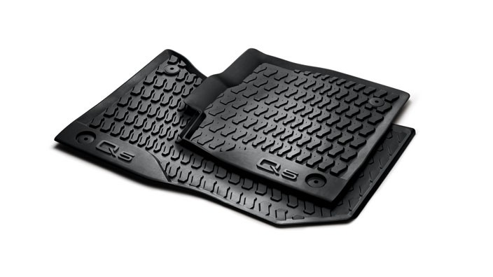 Original Audi Q5 Typ FY Gummimatten Gummifußmatten vorne schwarz