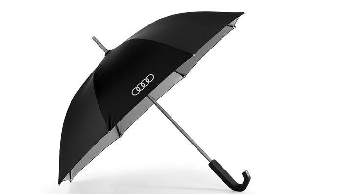 Audi Stockschirm Regenschirm klein, schwarz / titan 100 cm