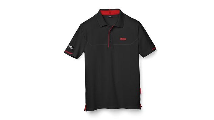 Audi Sport Poloshirt Shirt Herren schwarz