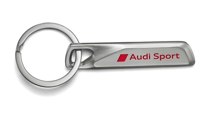 Audi Sport Schlüsselanhänger Edelstahl silber