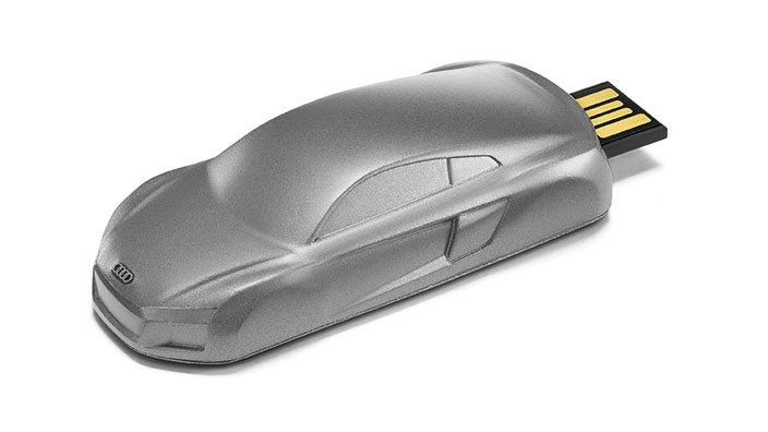 Audi R8 USB Stick 8GB Skulptur grau
