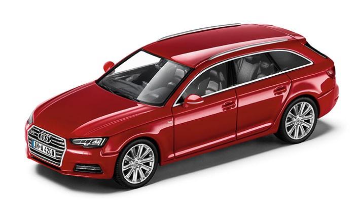 Audi A4 8W Avant Modellauto 1:43 Modell 2015 Tangorot