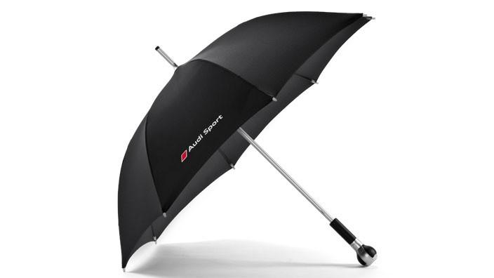 Audi Sport Regenschirm Schirm Stockschirm RS Schaltknauf schwarz