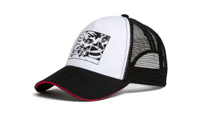 Audi Unisex Comic Print Cap, Audi Sport Kappe Baseballcap Mütze schwarz weiß
