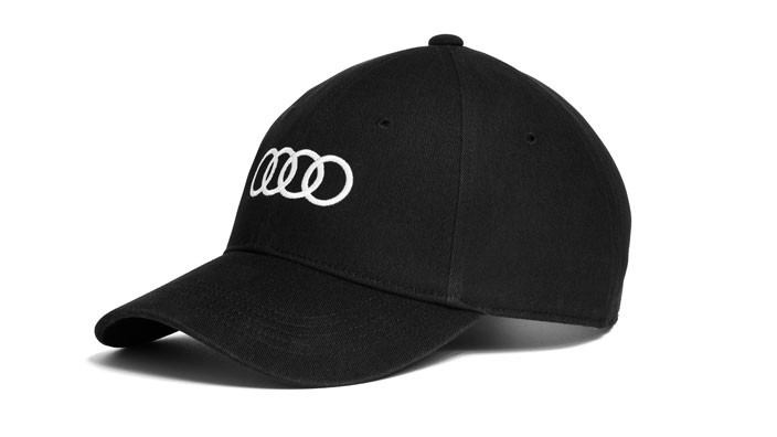 Audi Baseballcap Cap Kappe Mütze Ringe Unisex schwarz