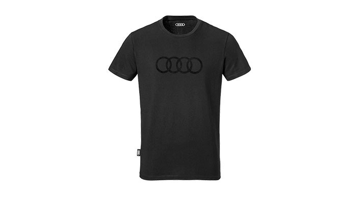 audi herren t shirt schwarz audi ringe. Black Bedroom Furniture Sets. Home Design Ideas