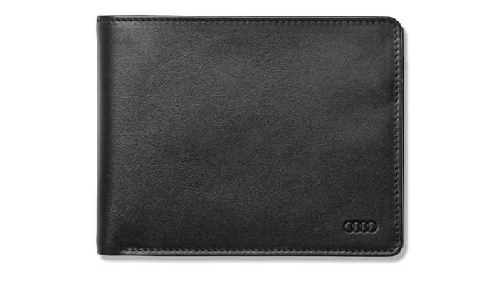 Audi Herrenbörse Geldbörse Portemonnaie Leder schwarz