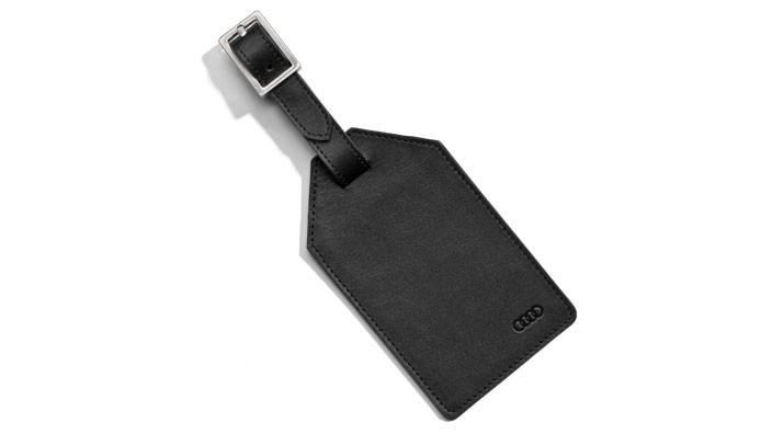 Audi Kofferanhänger Kofferschild schwarz Leder