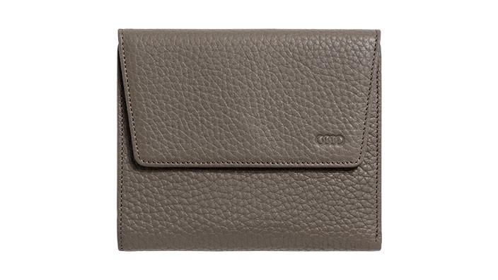 Audi Damenbörse Geldbörse Portemonnaie Taupe Leder