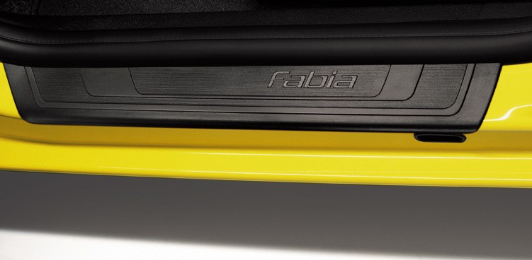 Original Skoda Fabia II Einstiegsleisten Schwarz 4tlg.
