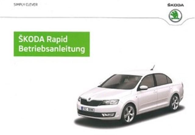 Original Skoda Rapid & Spaceback Betriebsanleitung Bordbuch