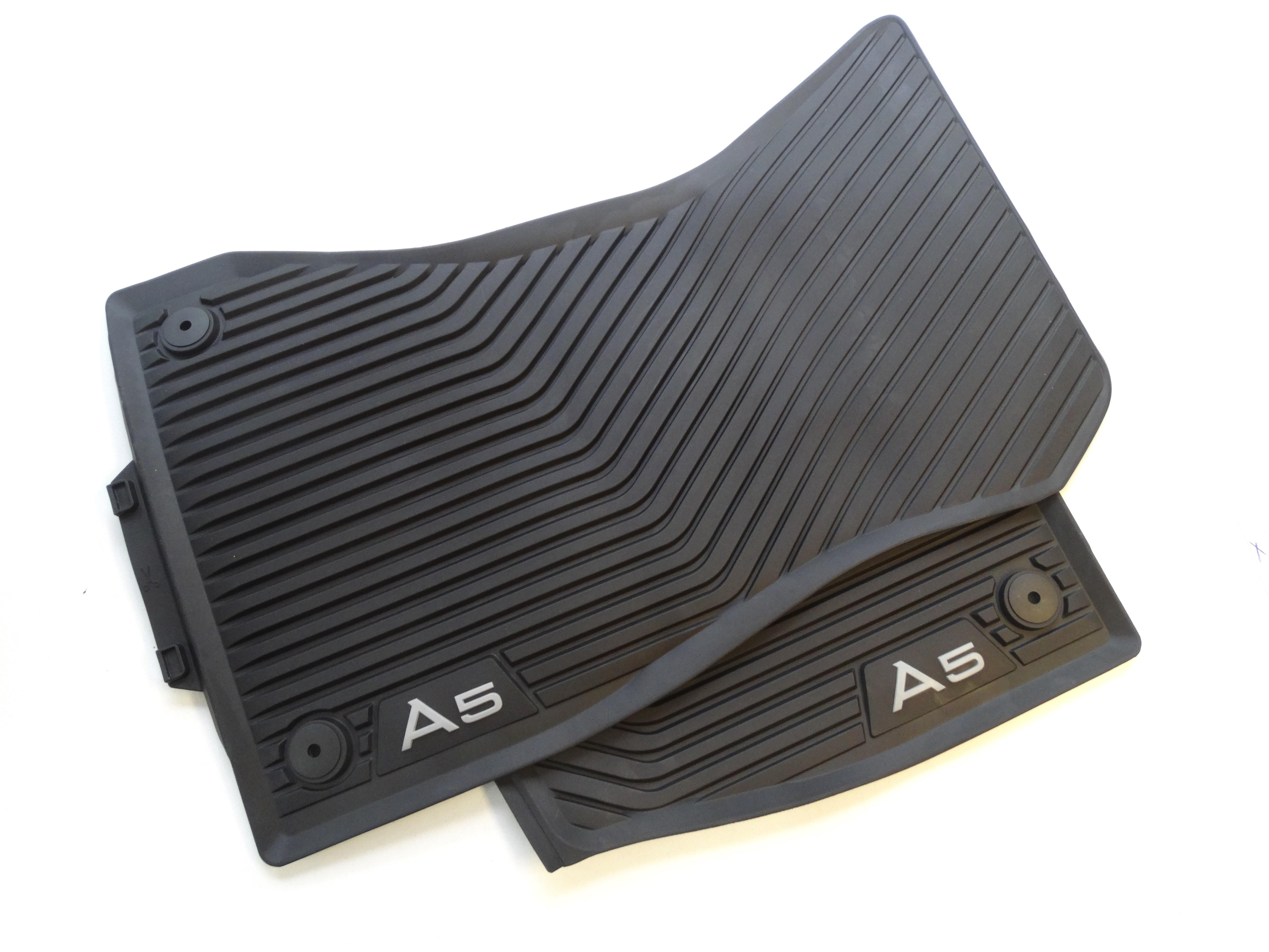 Original Audi A5 F5 Coupe Cabrio Gummimatten Gummifußmatten vorn