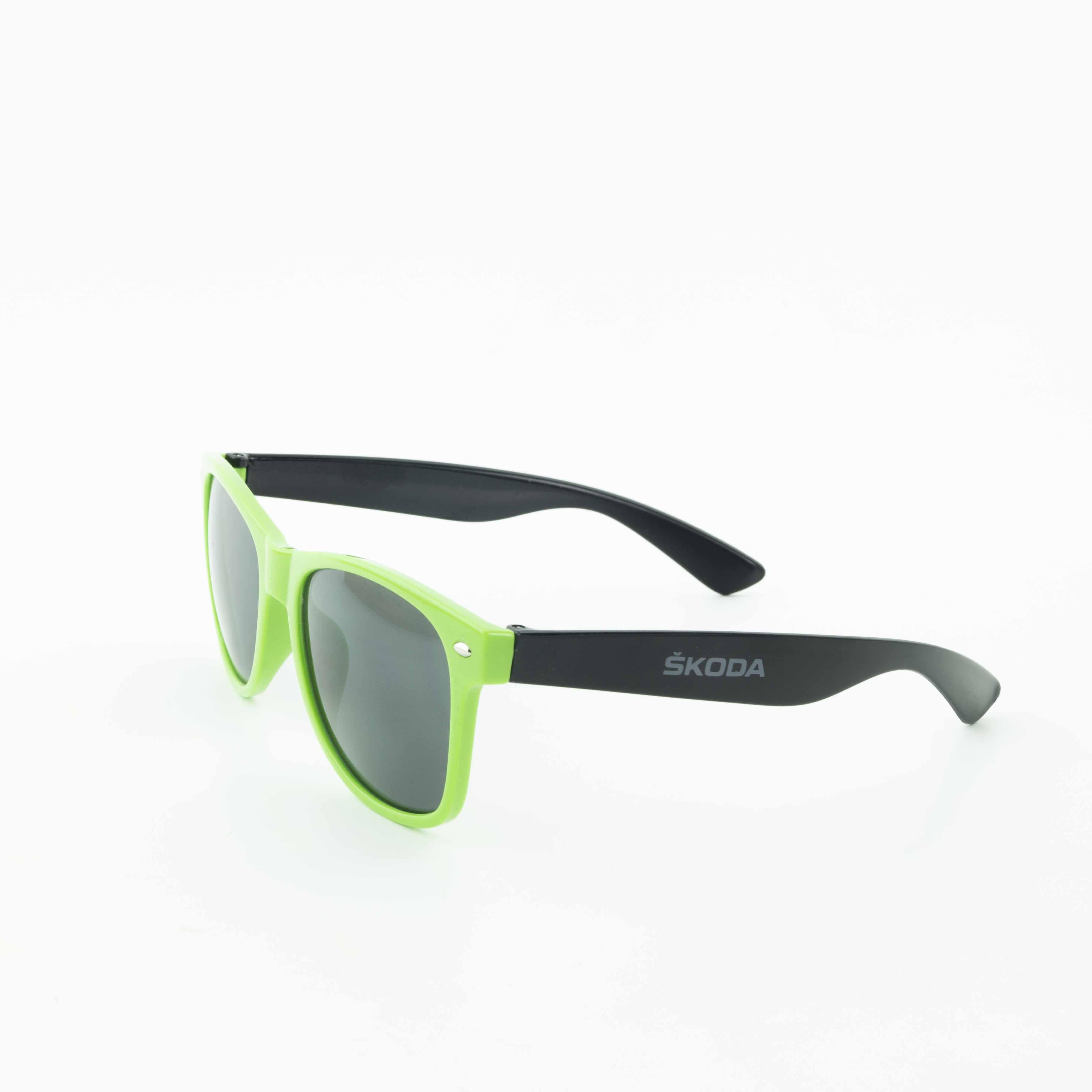 Skoda Sonnenbrille Brille Sunglasses UV 400 grün schwarz