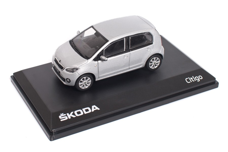 Skoda Citigo 1S 5-Türer Modellauto Miniatur 1:43 Brilliant-Silber