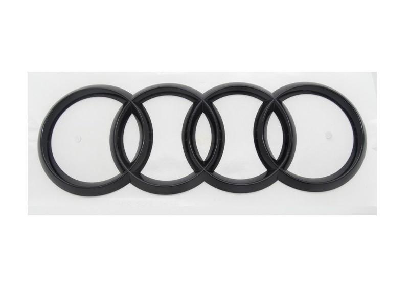 Original Audi A4 A6 Ringe Emblem Schriftzug Logo Heckklappe schwarz glänzend