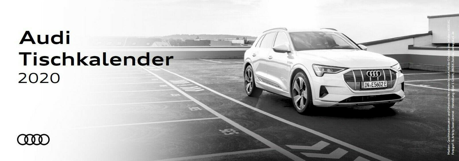 Audi Tischkalender 2020 Kalender Calender Bürokalender 3-Monats-Kalender