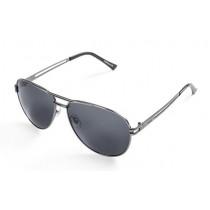 Skoda Piloten Sonnenbrille Unisex UV 400 silber mit Tuch und Etui