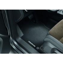 Original VW Touran Textilfußmatten Stoffmatten Premium vorn + hinten