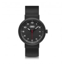 Audi Uhr Chronograph Armbanduhr schwarz matt Quarzwerk Datumsanzeige