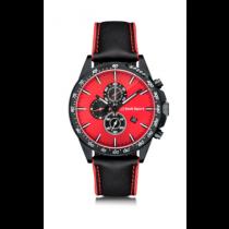 Audi Sport Chronograph Armbanduhr Uhr Lederarmband rot schwarz 3101900400