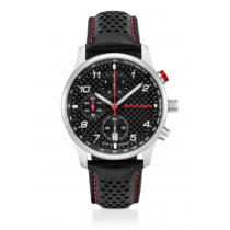 Original Audi Sport Chronograph Carbon, Herren, schwarz/silber 3101900500