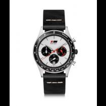 Audi heritage Chronograph Uhr Herrenuhr Leder schwarz / weiß 3102000100
